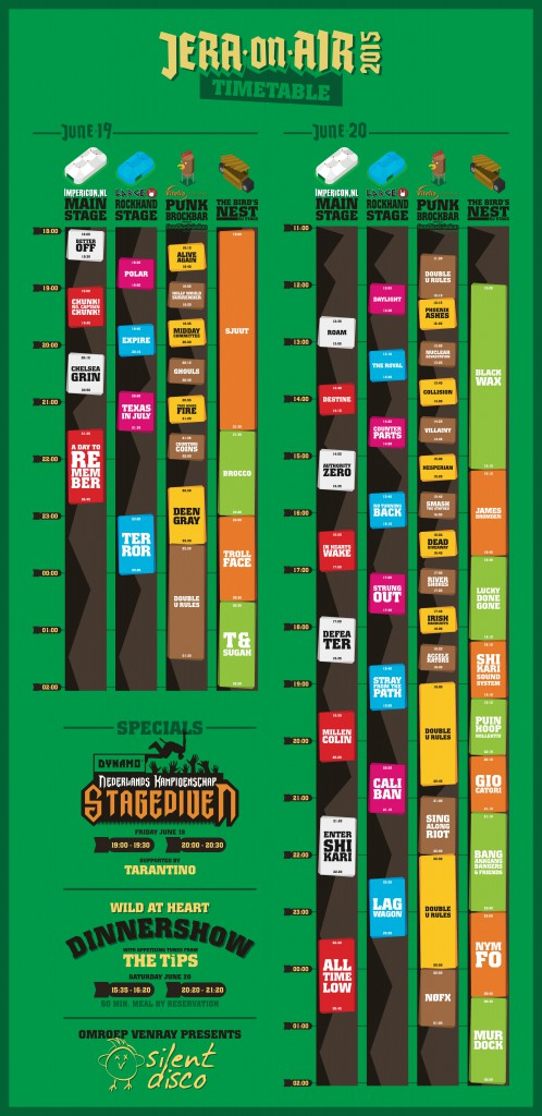 Timetable Jera on Air 2015